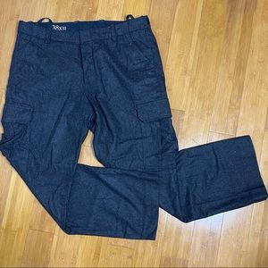 Gap 1969 wool cargo pants black 38x32